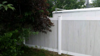 Vinyl and wood fencing. Custom fence