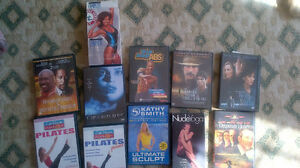 dvds, vhs tapes including nude yoga