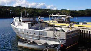 45' Glass/wood bare boat St. John's Newfoundland image 2