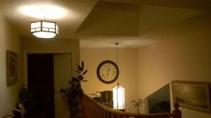 Church stained glass lantern & celling light for hall/ porch