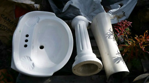 Pedestal porcelain  sink