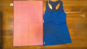 LOLE Yoga/Running Top - Size S - Like New WITH YOGA TOWEL!