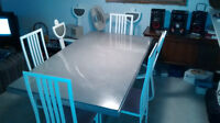 Marble Table with 8 Chairs-New Must Sell Negotiable Price!