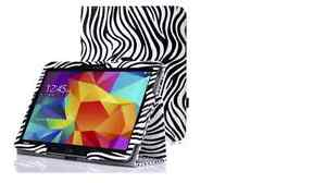 Case for Samsung Galaxy Tab4 10.1 Inch Tablet, Zebra BLACK