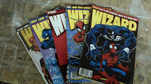 5 WIZARD Magazine from the late 90's