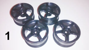 RC 1:10 Touring Wheels +3 Offset (Lot 1)
