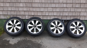 20 inch mag wheels with tires.