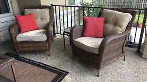 Wicker Outdoor Patio Set with Coffee Table
