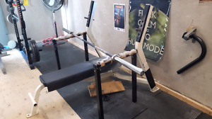 Commercial bench press and spotters
