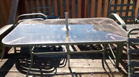 Patio table and chairs w/umbrella