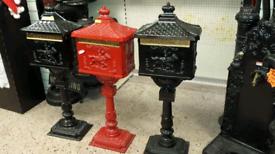Cast iron post boxes freestanding box