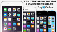WE BUY IPHONE 5 5S 6 NOTE 3 4 S4 S5 S6 INSTANTLY - 6 STORES