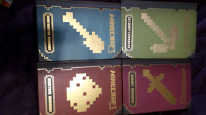 Lot of 4 Minecraft hardcover books