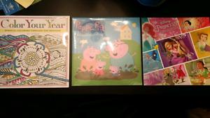 2017 calendars - peppa pig, disney princess, colour your year
