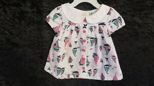 NWT Baby Girl Gymboree Dress Button Front Size 6-12 Mths