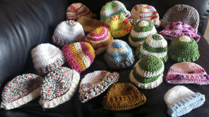 Wanted: Yarn to crochet Preemie Toques  Kitchener / Waterloo Kitchener Area image 1