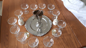 Verres pour champagne et coupe d'union (mariage)