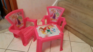 Disney Princess Deck Chairs and Table Set