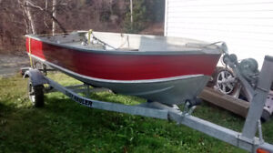 12' Aluminum boat with Brand New Trailer