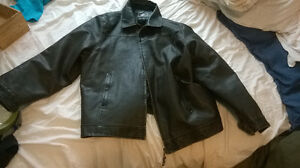 Mens Dark Brown Leather JAcket From South Africa Prince George British Columbia image 1