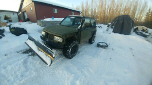 Geo tracker with plow