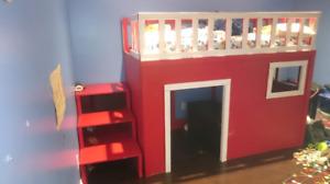 Kids loft style bed