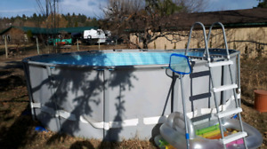 16 ft x 4 ft round pool with sand filtration system