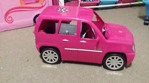 Barbie car and Barbie RV both open up