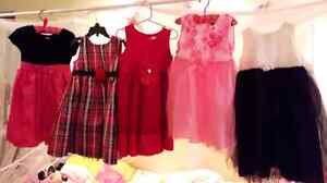 5 girls dresses lot size 4T