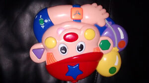 Learning face clown toy