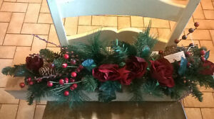 $10.00 Christmas Roses/Pine Cone Swag
