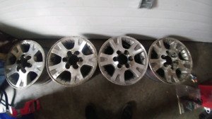 "17""X7"" Aluminum Rims 6X5.5 Bolt Pattern"