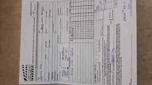 Glass repair certificate