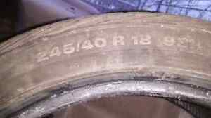 4 tires 245/40R18 used
