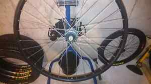 Front wheel and tire