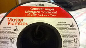 $$ - MASTER - PLUMBER - CANISTER - AUGER - 25FT X 1/4 - $$