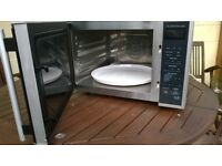 Large combination microwave and oven