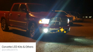 Dodge Ram L.E.D. Headlights + Fogs
