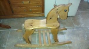 solid maple rocking horse London Ontario image 1