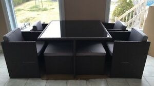 Ensemble de jardin 9 mcx table Cube NEUVE *taxes incluses