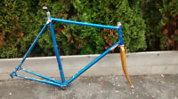 58cm lugged frame and fork