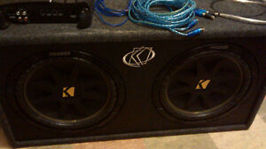 Kicker dual sub set with Alpine amp