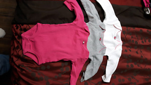 Girls 3 month long sleeve onezies
