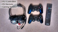 PS3 Controllers/ Remote/ Gaming Headset