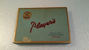 Player's Navy Cut Cigarette Box