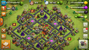 Selling my Clash of Clans Account with Level 123 and 1400 GEMS