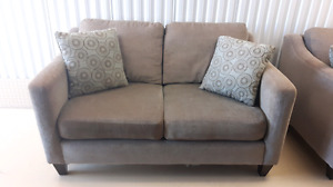 2 Beautiful Beige Love Seats - Great For Student's