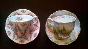Fine Bone China Tea Cups and Saucers