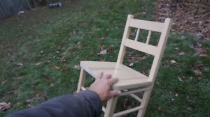 Toddler's Wooden Chair