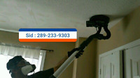 Popcorn ceiling removal to smooth ceiling